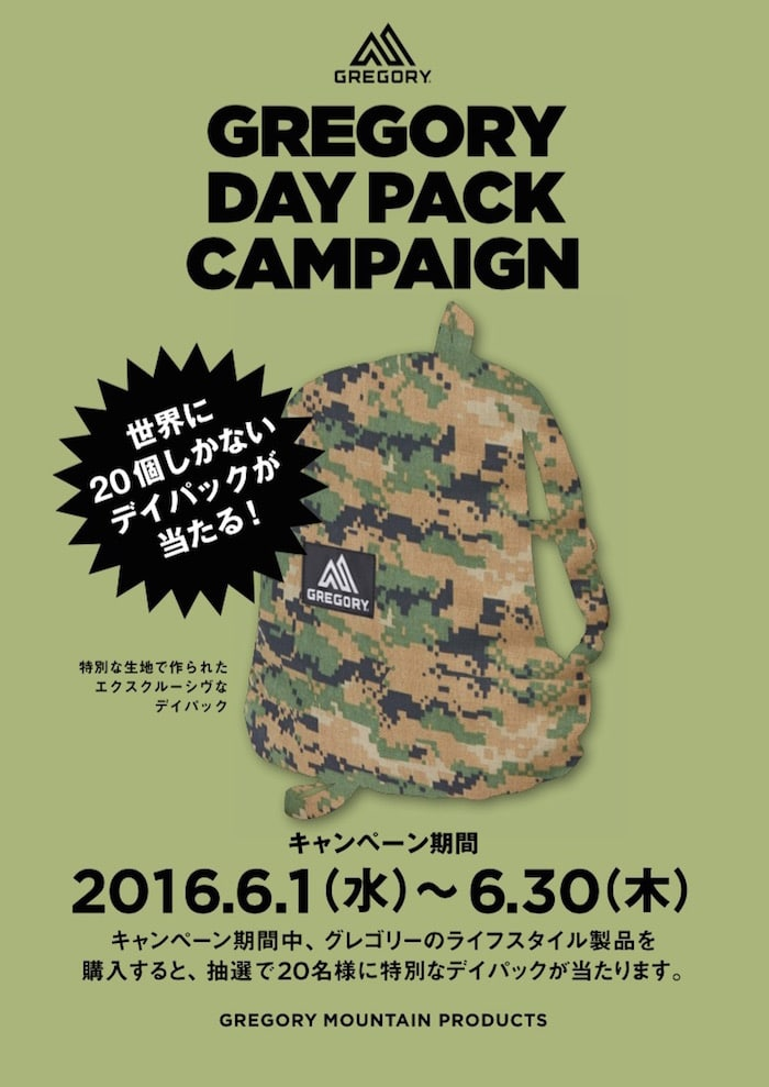 GREGORY DAY PACK CAMPAIGN